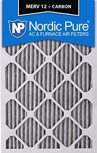 "Pure 20x25x4PM12C-2 Pleated MERV 12 Plus Carbon AC Furnace Filters (2 Pack), 20 x 25 x 4"" [並行輸入品]"