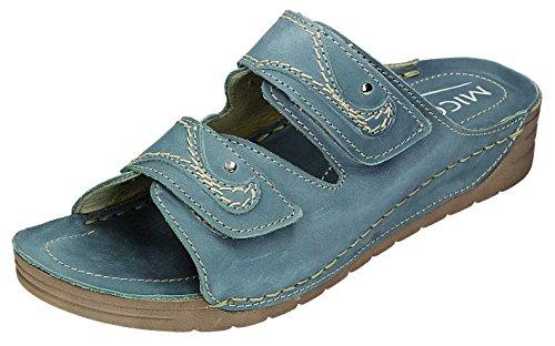 MICCOS - Zuecos para mujer Azul Jeans Azul - Jeans