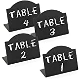 Freestanding Black Metal Erasable Chalkboard Place Card Signs, Small Memo Boards, (Set of 4)