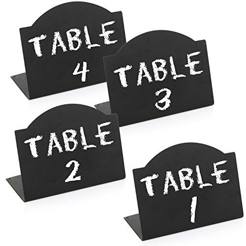 Set of 4 Freestanding Black Metal Erasable Chalkboard Signs / Small Memo Boards - MyGift