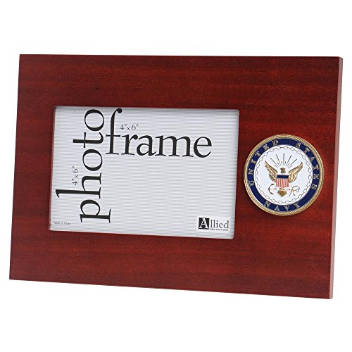 Allied Frame US Navy Medallion Desktop Landscape Picture Frame - 4 x 6 Inch