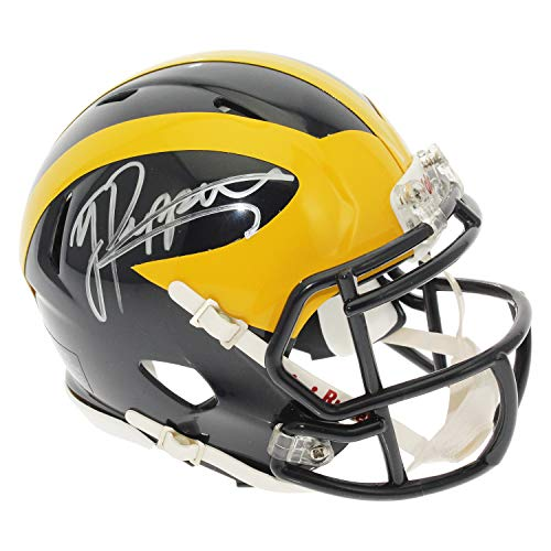 Jabrill Peppers Autographed Signed Michigan Wolverines Speed Mini Helmet - Silver Auto - JSA - Helmets Ncaa Mini Autographed