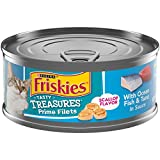 Purina Friskies Pate Wet Cat Food, Tasty Treasures With Ocean Fish, Tuna & Cheese in Sauce - (24) 5.5 oz. Cans