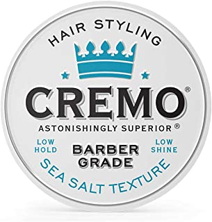 product image for Cremo Premium Barber Grade Hair Styling Sea Salt Texture Cream, Low Hold, Low Shine, 4 Oz