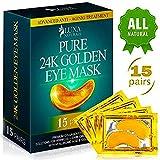 Natural Under Eye Patches - 24K Gold Eye Mask Anti-Aging Hyaluronic Acid