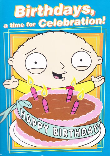 Tarjeta de felicitación con audio, diseño de Stewie de Padre de Familia