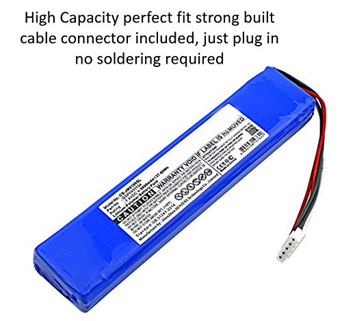 High Capacity Replacement Battery + Tool + Guide (Link) for JBL Xtreme Extreme Portable Bluetooth Speaker 5000mAh Li-Polymer JBL GSP0931134 Repair Power by WirelessFinest (Image #2)