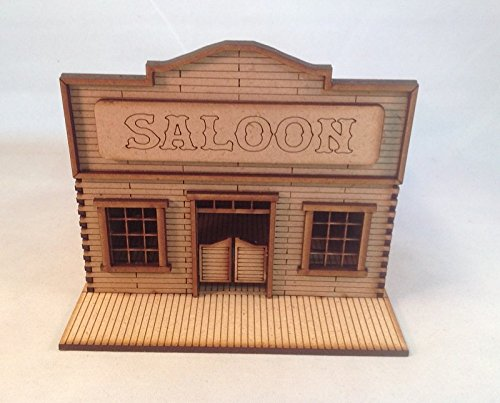Saloon MDF 28mm Laser Cut Kit Tombstone Desperado Legends of the Old West  FAST SHIPPING