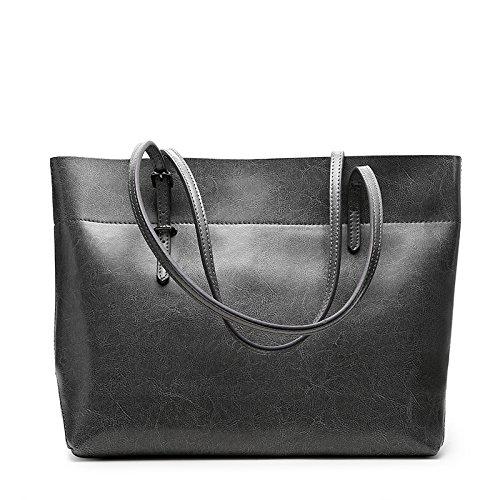 Women's Vertical PU Leather Top Handle Shopping Shoulder Bag(camel) - 1