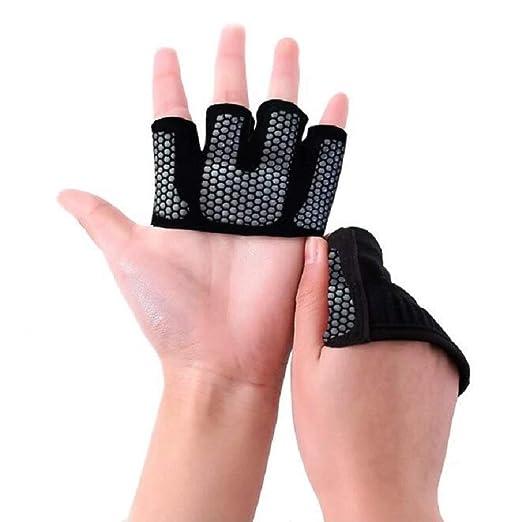 Guantes de yoga de medio dedo guantes de levantamiento de ...