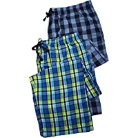 Hanes–Mens de altura 2unidades Woven broadcloth Dormir Lounge pantalones