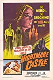 "Nightmare Castle - Authentic Original 27"" x 41"" Folded Movie Poster"
