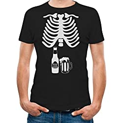 Halloween Skeleton Beer Belly Shirt