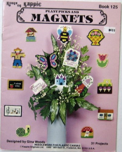Plant Picks and Magnets (31 Projects. Needlework for Plastic Canvas., -