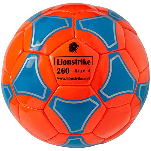 Lionstrike Size 4 Soccer Ball Lite, Age 7-12 Orange (Soccer Ball Size For 7 Year Old)
