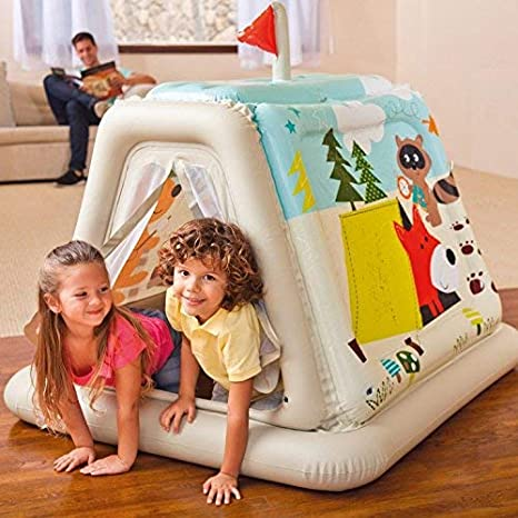 """50/"""" Intex Animal Trails Indoor Play Tent House Inflatable Kids Playhouse Tunnel"""