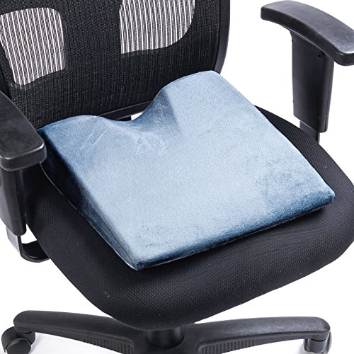 - Black Mountain Products Memory Foam Wedge Seat Cushion, Grey