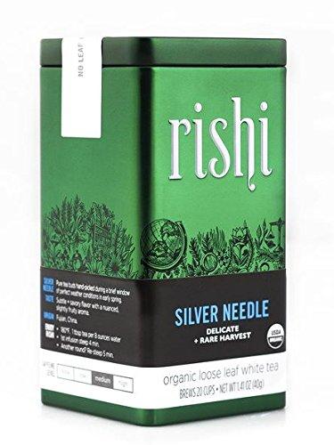 Rishi Tea Organic Silver Needle Loose Leaf Tea, 1.41 Ounces Tin