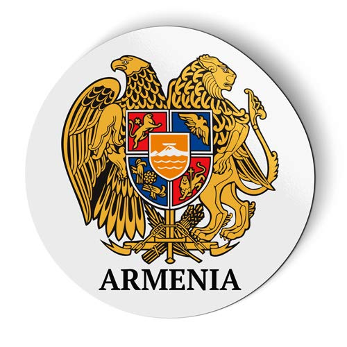 AK Wall Art Armenia Coat of Arms - Magnet - Car Fridge Locker - Select - Magnet Arms Refrigerator
