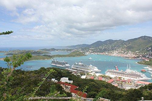 Home Comforts Laminated Poster Cruise Ship View St Thomas Holidays Virgin Islands Poster Print 24 x 36