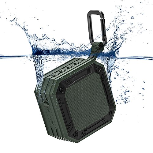 MixcMax Waterproof Bluetooth Speaker iPX7 Outdoor Portable Bluetooth Speaker Wireless Mini Stereo Bluetooth Speaker Lightweight, 20-Hour Playtime, HD Sound for Party, Shower, Climbing, Hiking, (Lightweight Bluetooth)