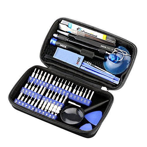 XOOL 58 in 1 Precision Screwdriver Set, Magnetic Driver Kit with 42 Bits,Professional Electronics Repair Tool Kit f with Portable Bag for Repair iPhone, Cell Phone, iPad, PC, ()