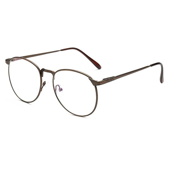 Occhiali Anti-blu - Occhiali da Vista Rotondi in Metallo per Uomo e Donna Occhiali Trasparenti Per Occhiali da Vista Vintage EjOQT6YoP9