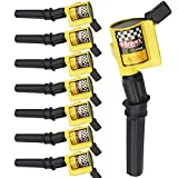 High Performance Pack of 8 Curved Boot Ignition Coil for Ford Lincoln Mercury 4.6L 5.4L V8 Compatible with DG508 C1454 C1417 FD503