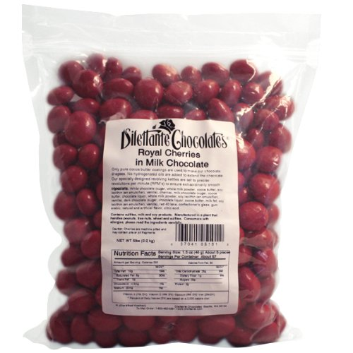 Chocolate Royal Cherries - 5lb bulk bag by Dilettante