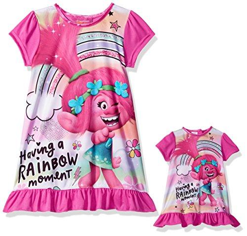 Trolls Girls' Little Poppy Nightgown, Sparkle Dust, 6