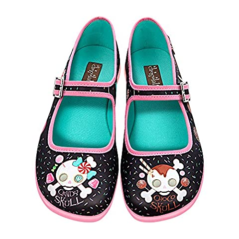 Hot Chocolate Design Chocolaticas Candy Skull Women's Mary Jane Flat Multicoloured US Size: 11