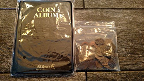 Coin Album with a full pound of assorted wheat pennies