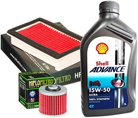 Kit Tagliando Shell ultra 15 W50 Filtro Aceite Aire Yamaha XT 600 ...