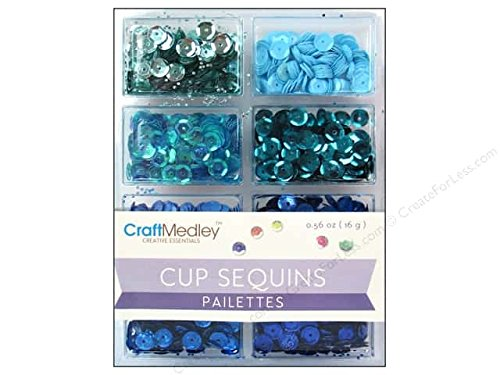 Craft Medley Cup Sequins Pailettes, Rhythm 'n Blues