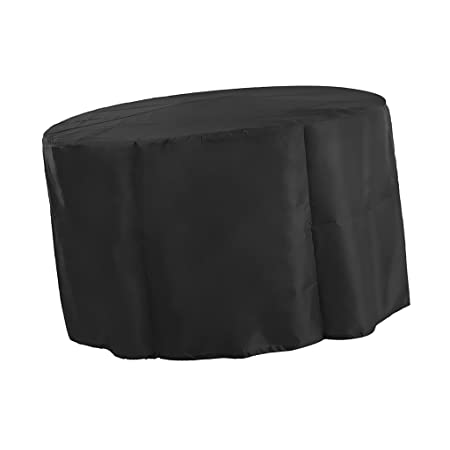 MagiDeal Veranda Round Patio Table & Chair Set Cover - Durable and Water Resistant Outdoor Furniture Cover, Black