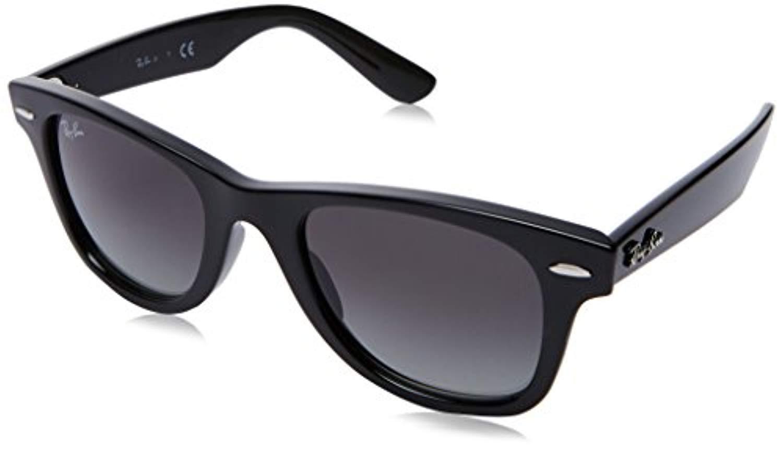Bundle: Ray-Ban RJ9066S Junior Wayfarer Black/Gray Gradient 47mm & Carekit by Popular Sunglasses