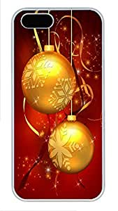 iPhone 5 5S Case 3D christmas PC Custom iPhone 5 5S Case Cover White