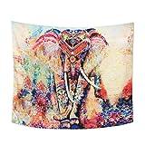 Sudeste de Asia colgando tapices colcha picnic s¨¢bana manta pared hippie tapiz elefante, C