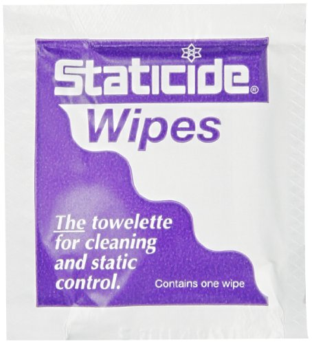 ACL Staticide 2450 Anti-Static Wipe,  Individually Wrapped, 8'' Length x 5'' Width, (Pack of 450) by ACL Staticide