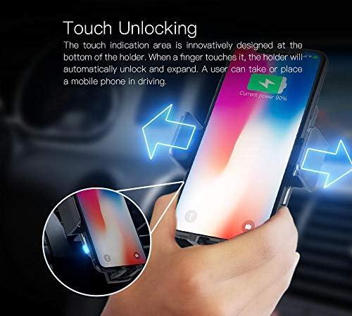 10Wのワイヤレス車の充電器マウント、自動クランプQiはファストiPhone対応車の携帯電話ホルダーを、充電11 Proの最大のX X XR 8 + /サムスンS10 S10 + S9 S9 + S8 S8 +