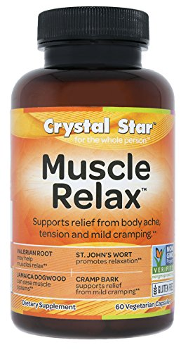 Crystal Star Muscle Relax, 60 Vegetarian Capsules (Whats The Best Muscle Relaxer)