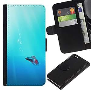 All Phone Most Case / Oferta Especial Cáscara Funda de cuero Monedero Cubierta de proteccion Caso / Wallet Case for Apple Iphone 6 // Cute Neon Coral Fish