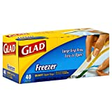 quart ziplock freezer - Glad Zipper Food Storage Freezer Bags - Quart - 40 Count