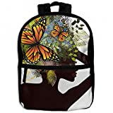 Hair Africa Women Floral And Butterflies Childrens School Backpacks Casual Daypack Travel Outdoor For Boys And Girls