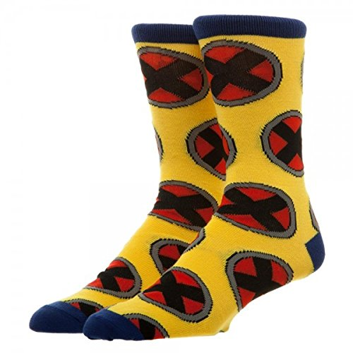 Marvel X-men All Over Logo Men's Crew Socks