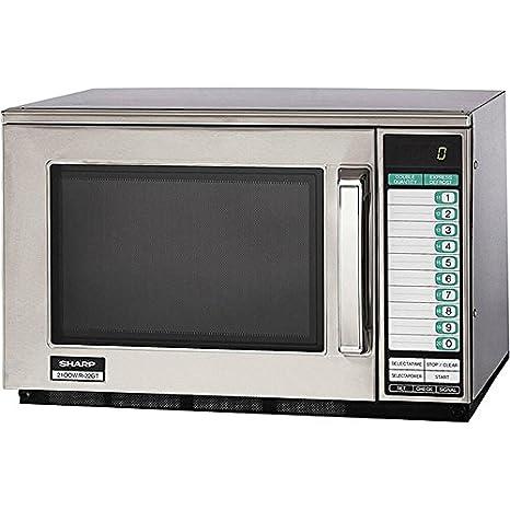Amazon.com: Sharp – Microondas Heavy Duty Comercial – 1200 W ...
