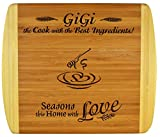 GIGI GIFT ~ Engraved 2-Tone Bamboo Cutting Board ~ 2-Sided Design Engraved Side Designed For Décor Reverse Side For Usage GiGi Birthday Gift Mothers Day Christmas Gift Best GiGi Ever (11 1/2 x 13 1/2)