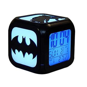 CLXYA LED Reloj Despertador Digital Despertador Creativo de Dibujos Animados USB Cargando Despertador Despertador - Regalo de los niños,003: Amazon.es: ...