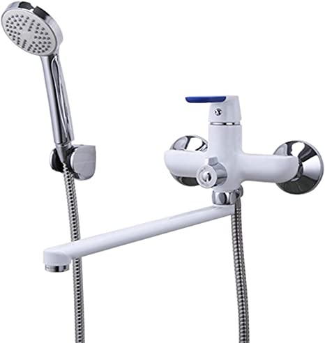 Bathroom Bathtub Faucet Sprayer Set Wall Mounted Shower Spout Faucet Tap