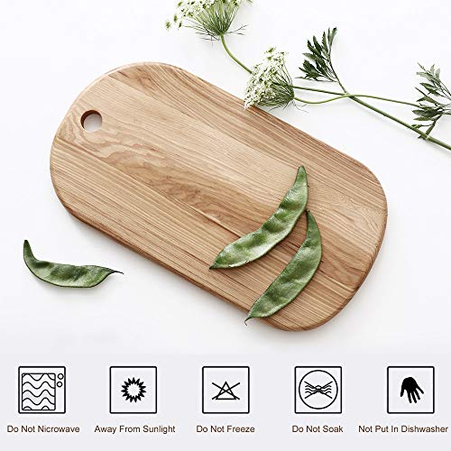 (Wooden Cheese Crackers Serving Board With Handle, Small Pizza Stone Peel Chopping Paddle Cutting Slicing Platter For Cake Bread Sushi Crackers Biscuits Fruits Meat (Oak, Rectangular))
